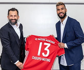 Bayern confirm the signing of Eric Maxim Choupo-Moting on a 1-year contract until 2021.