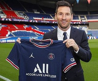 Lionel Messi joins Paris Saint-Germain on two-year contract after leaving Barcelona.