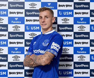 Everton have signed Lucas Digne from Barcelona for £20m on a five-year deal.