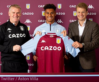 Aston Villa have completed the signing of striker Ollie Watkins from Brentford for a club record fee of £28m.