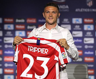 Kieran Trippier has completed one of the more eye-catching transfers of the summer to date after joining Atlético Madrid from Tottenham Hotspur in a deal worth at least €22m.