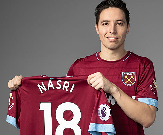 West Ham have signed former Arsenal and Manchester City midfielder Samir Nasri - on the day he completes a doping ban.