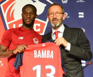 Lille have confirmed the signing of Saint Étienne forward Jonathan Bamba on a five-year-deal on a free transfer.