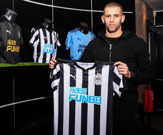 Newcastle complete transfer of Islam Slimani on loan from Leicester until end of season.