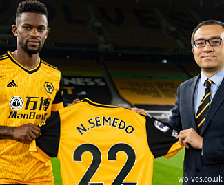 Wolves have completed the signing of Nelson Semedo from Barcelona for £28 million.
