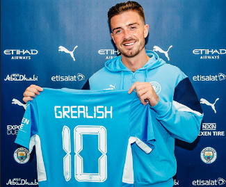 Manchester City have completed the signing of Jack Grealish from Aston Villa for a British record fee of £100 million on a six-year deal.