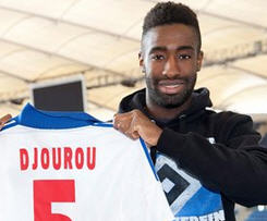 Johan Djourou completes permanent move to Hamburg from Arsenal.