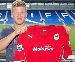 Cardiff City sign Denmark's Andreas Cornelius.