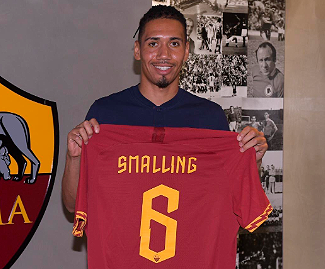 Chris Smalling has officially left Manchester United to join AS Roma on loan.