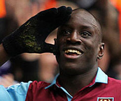 Newcastle have completed the signing of former West Ham frontman Demba Ba on a three-year deal