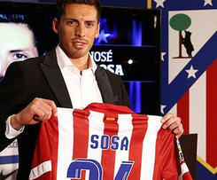 Atletico Madrid have confirmed the signing of Metalist Kharkiv midfielder Jose Sosa on a six-month loan deal.