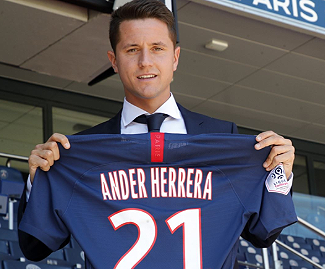 Paris Saint-Germain have announced the arrival of Ander Herrera on a free transfer.