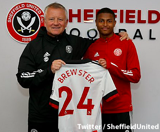 Sheffield United have broken their club transfer record fee for the sixth time in little over a year to sign forward Rhian Brewster from Liverpool.