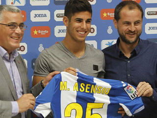 Marco Asensio has joined Espanyol on a season-long loan deal from Real Madrid.