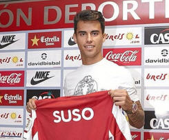 Liverpool forward Suso has joined newly promoted Spanish top-flight club Almeria on a season-long loan deal.