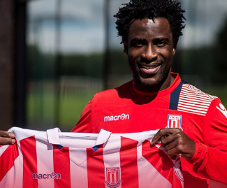 Stoke City have signed striker Wilfried Bony from Manchester City on a season-long loan deal.