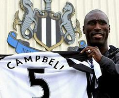Arsenal defender Sol Campbell completes free transfer to Newcastle United